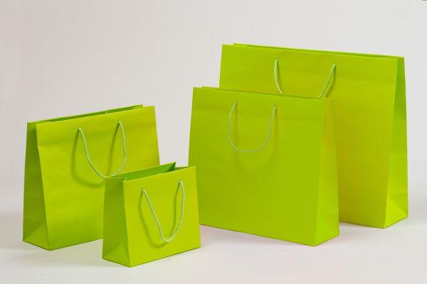 Deluxe Tasche Kraftpapier Grün