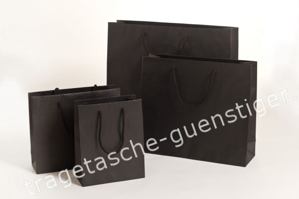 Deluxe Tasche Kraftpapier Schwarz
