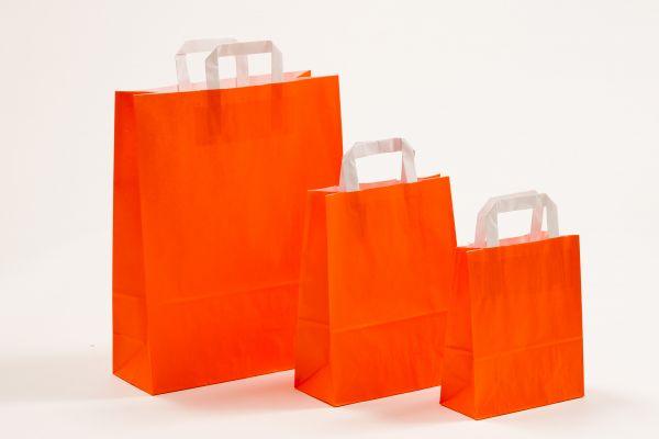 Flachhenkeltasche Orange