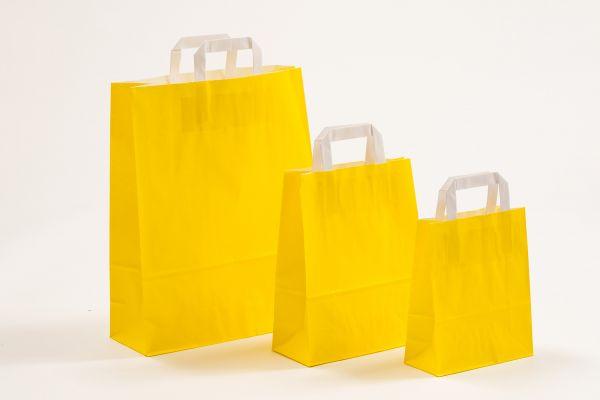 Flachhenkeltasche Gelb