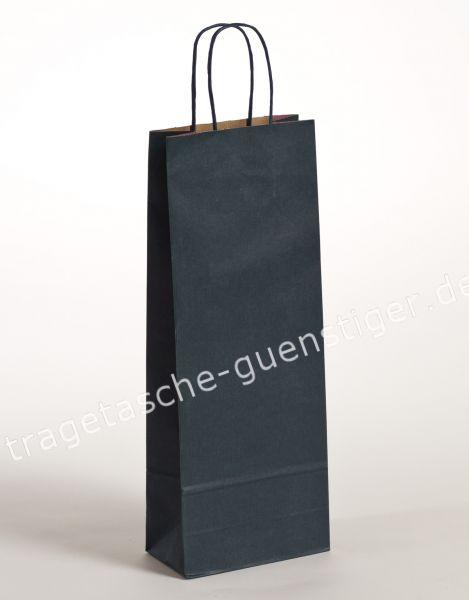 Papier Flaschentaschen 1er Blau