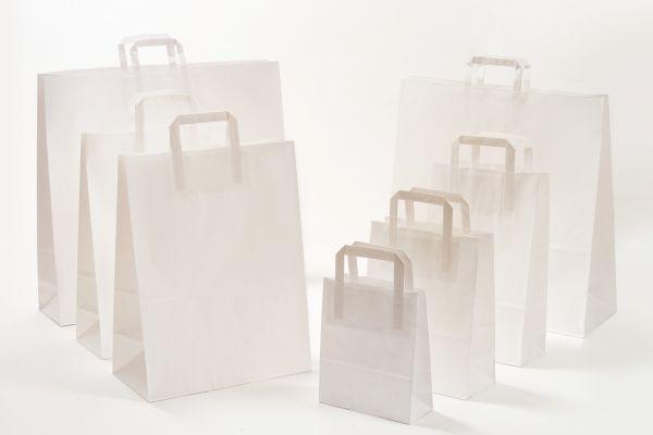Flachhenkeltasche Weiß