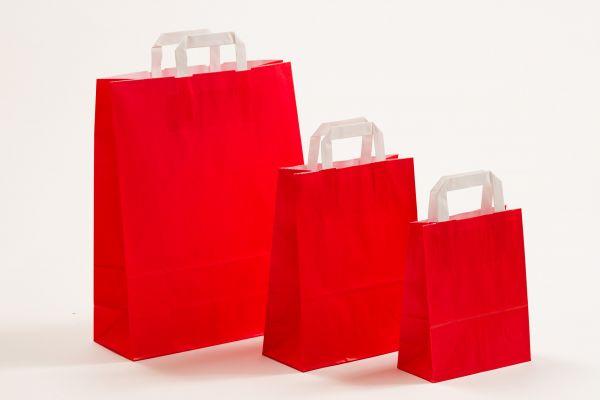 Flachhenkeltasche Rot