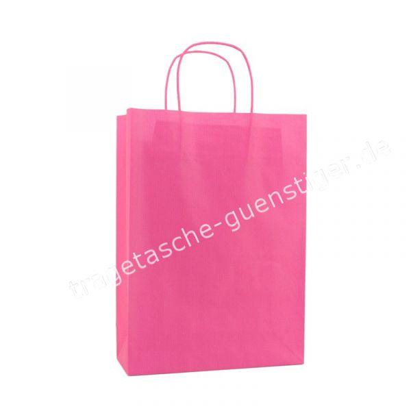 Papiertasche mit gedrehtem Papiergriff Pink