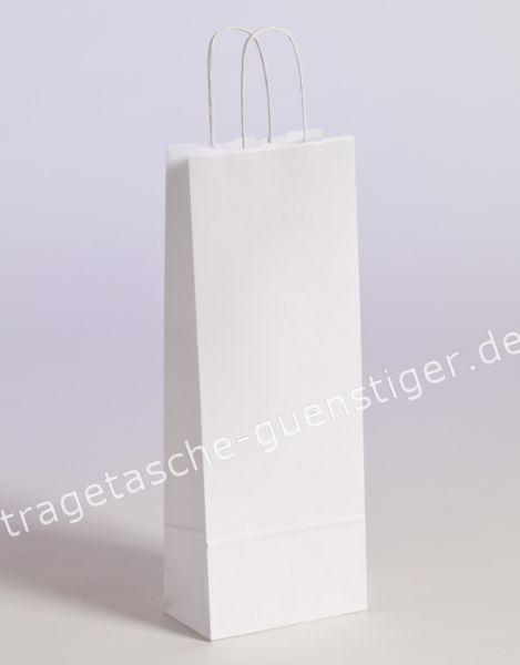 Papier Flaschentaschen 1er Weiß