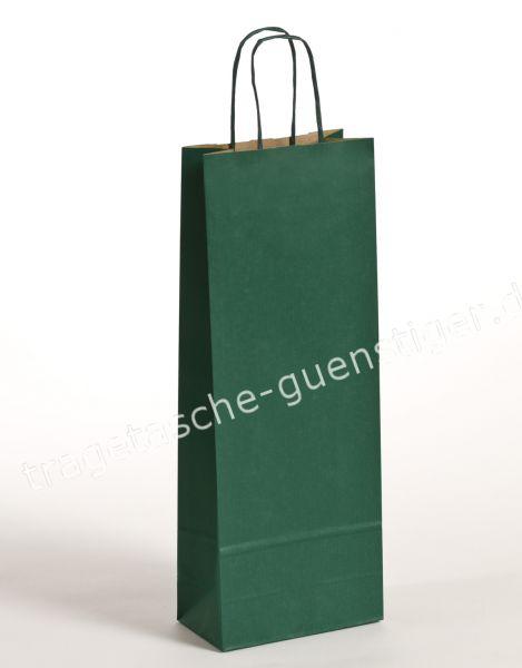 Papier Flaschentaschen 1er Grün