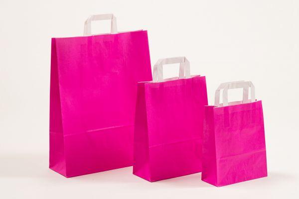 Flachhenkeltasche Pink