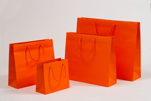 Deluxe Tasche Kraftpapier Orange