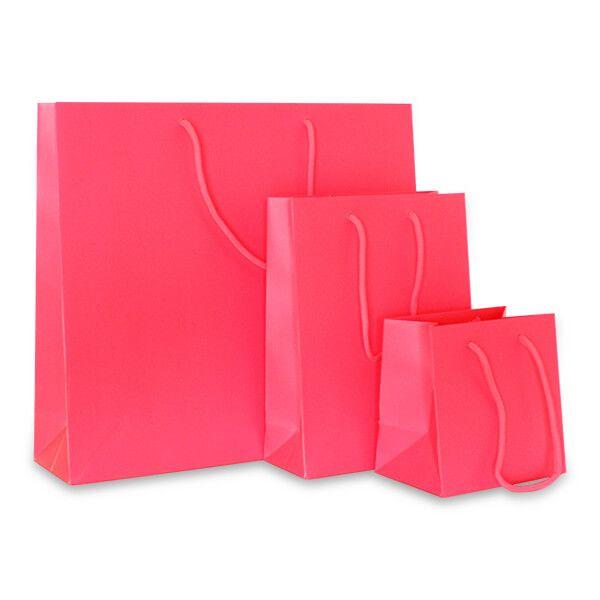 Deluxe Tasche Mattkaschiert Neon Pink