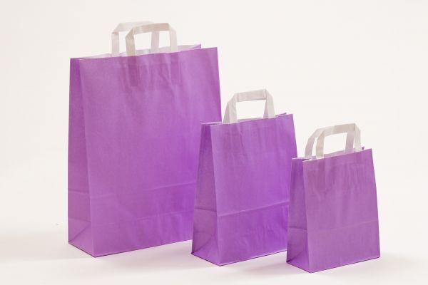 Flachhenkeltasche Violett