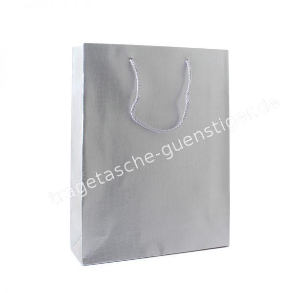 Deluxe Croco Silber