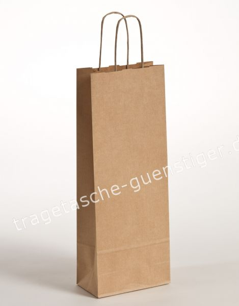 Papier Flaschentaschen 1er Braun
