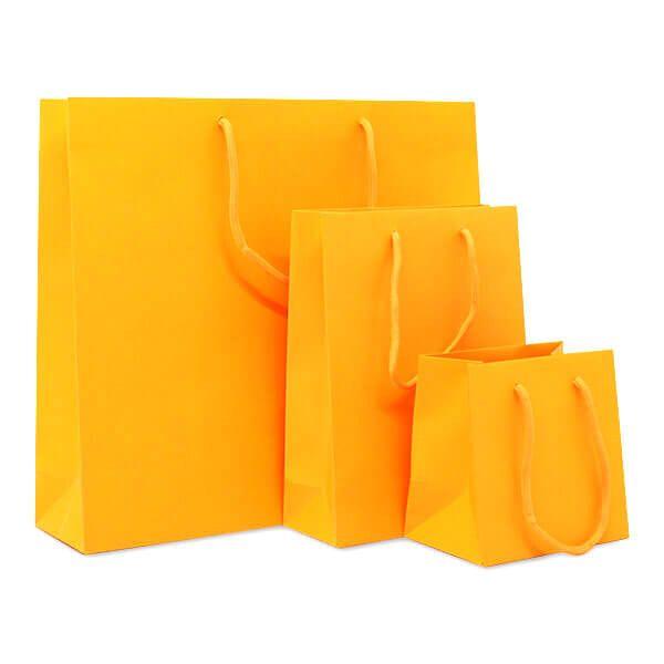 Deluxe Tasche Mattkaschiert Neon Orange