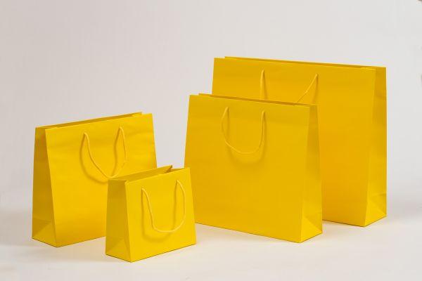 Deluxe Tasche Kraftpapier Gelb