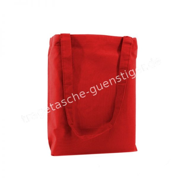 Baumwoll Tragetasche Rot