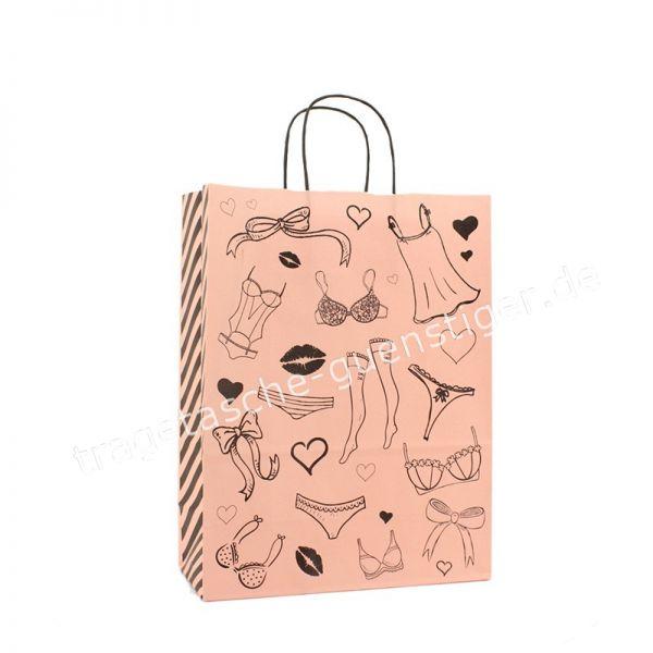 Papiertasche mit gedrehtem Papiergriff Lingerie