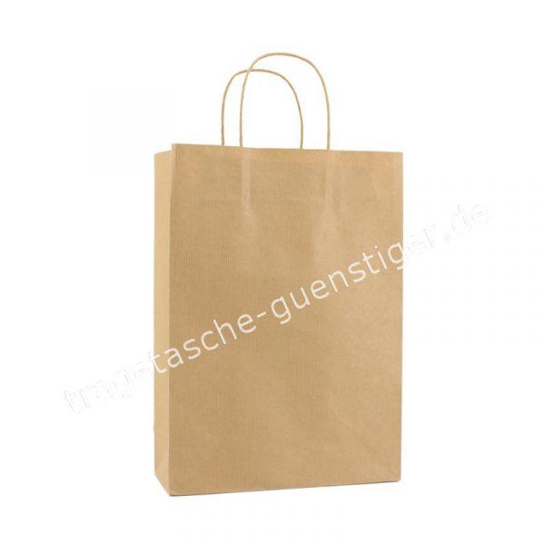 Papiertasche mit gedrehtem Papiergriff Braun