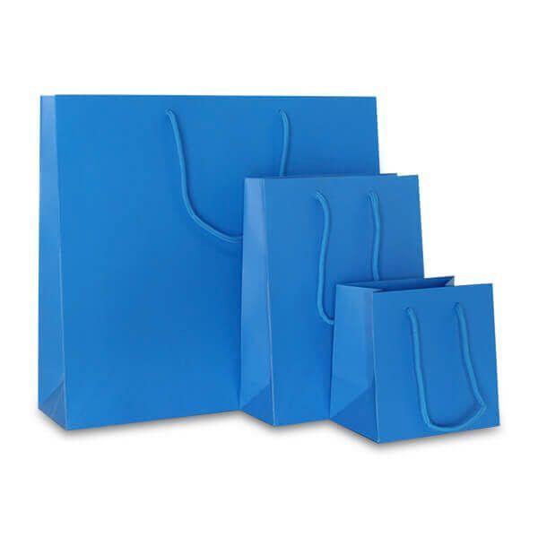 Deluxe Tasche Mattkaschiert Neon Blau