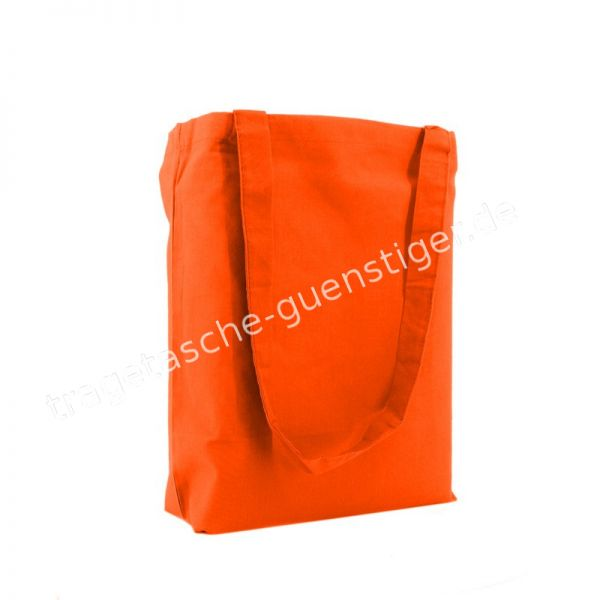 Baumwoll Tragetasche Orange