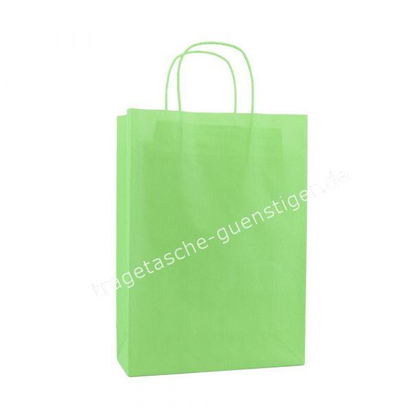 Papiertasche mit gedrehtem Papiergriff Maigrün