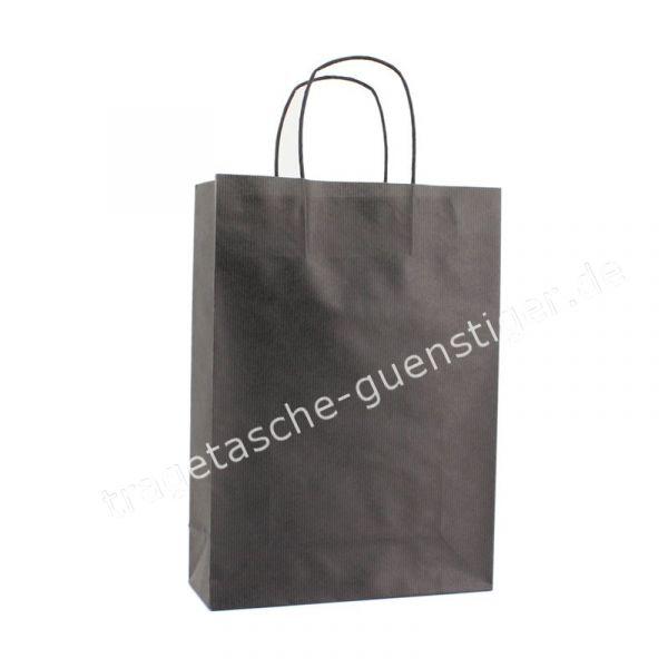 Papiertasche mit gedrehtem Papiergriff Schwarz