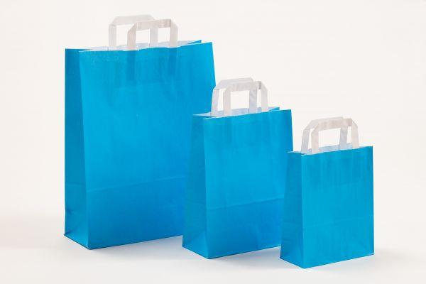 Flachhenkeltasche Blau